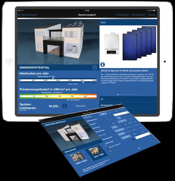 Umsetzung Vertriebsapp von der App-Agentur für Bosch Thermotechnik GmbH.